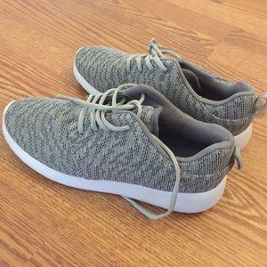Grey sneaker.